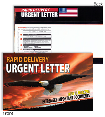 6 X 9 Rapid Delivery URGENT LETTER Flying Eagle
