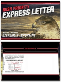 Rush Priority Express Letter Black 6 x 9