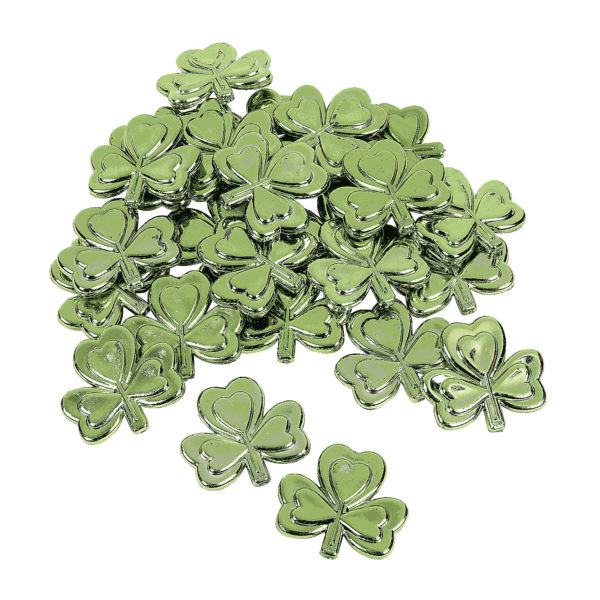 Plastic Metallic Shamrocks